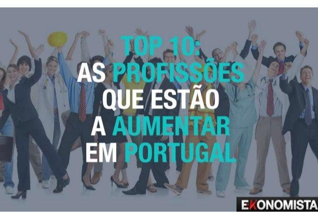 Top 10: As profissões que estão a aumentar em Portugal