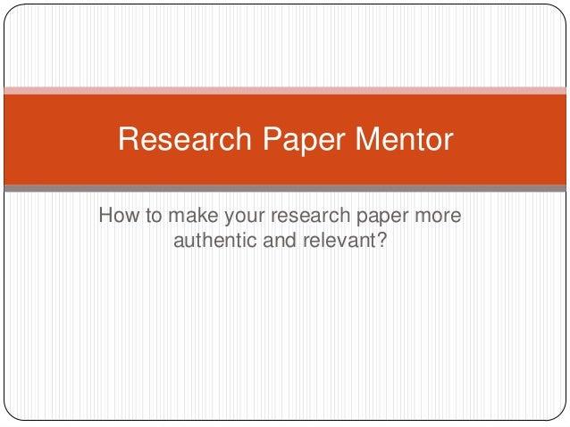 Mentorship essay