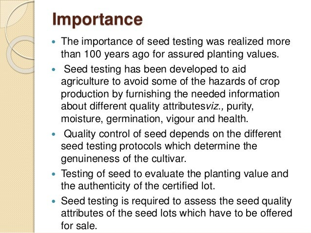 importance of seed dormancy pdf