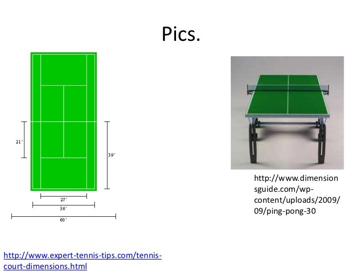 Tennis court ping pong table - Table tennis table size and specifications ...