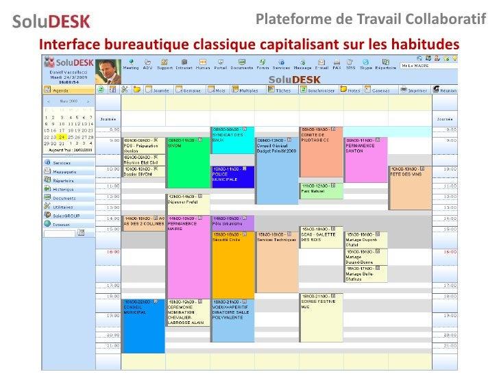 Plateforme de Travail Collaboratif Interface bureautique classique capitalisant sur les habitudes