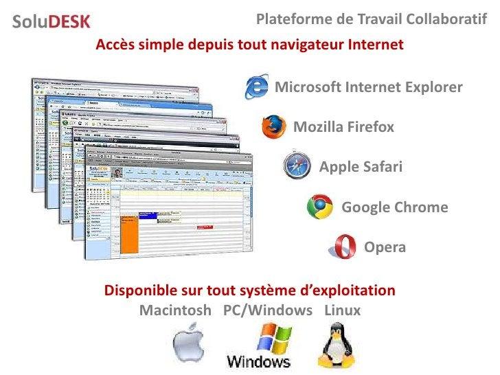 Plateforme de Travail Collaboratif Accès simple depuis tout navigateur Internet                           Microsoft Intern...