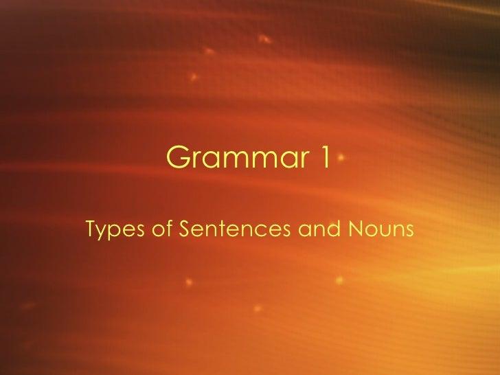Grammar 1 Sentences