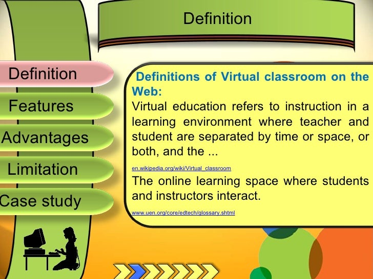 Definition Advantages Limitation Case Study Features Definitions Of Virtual Classroom On The