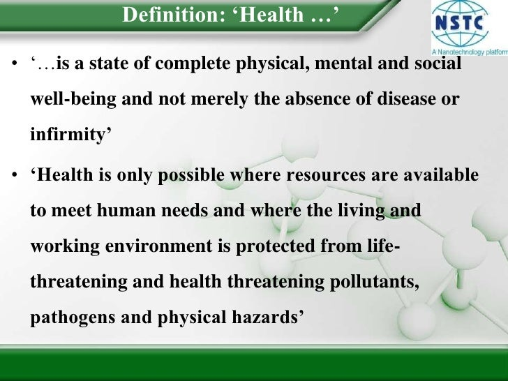 Introduction To Environmental Health Slide 2