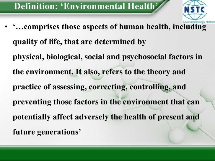 Introduction To Environmental Health
