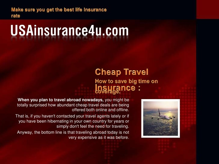 Life Insurance For Traveling Abroad