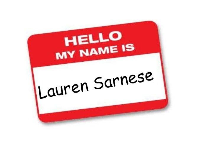 Lauren Sarnese