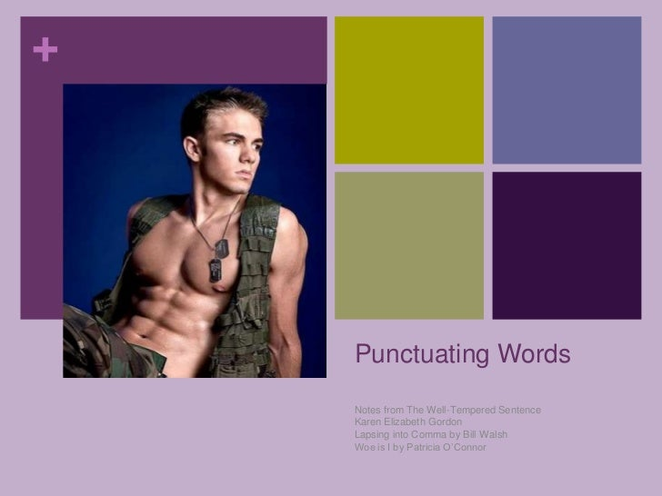Punctuating Words<br />Notes from The Well-Tempered Sentence<br />Karen Elizabeth Gordon<br />Lapsing into Comma by Bill W...