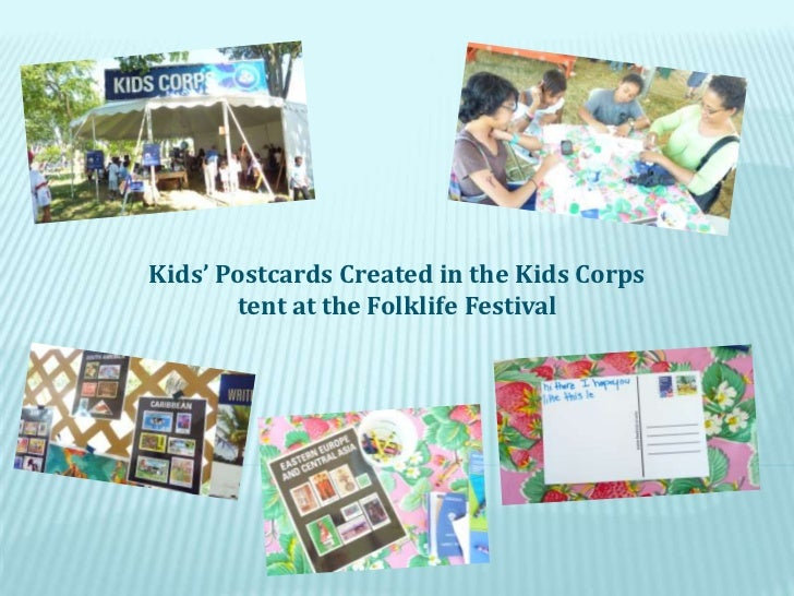 Kids' Postcards Created in the Kids Corps tent at the Folklife Festival<br />