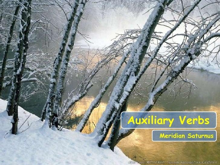 Auxiliary Verbs     Meridian Saturnus