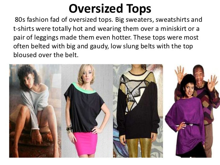 Dressing eighties style