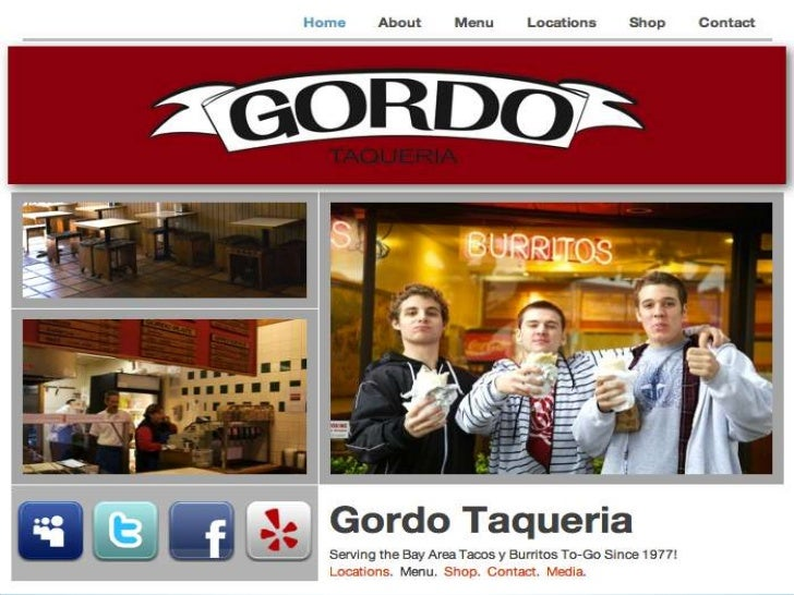 The website is a restaurant.It's known for being a Mexican Taqueria.     They sell burritos and tacos.