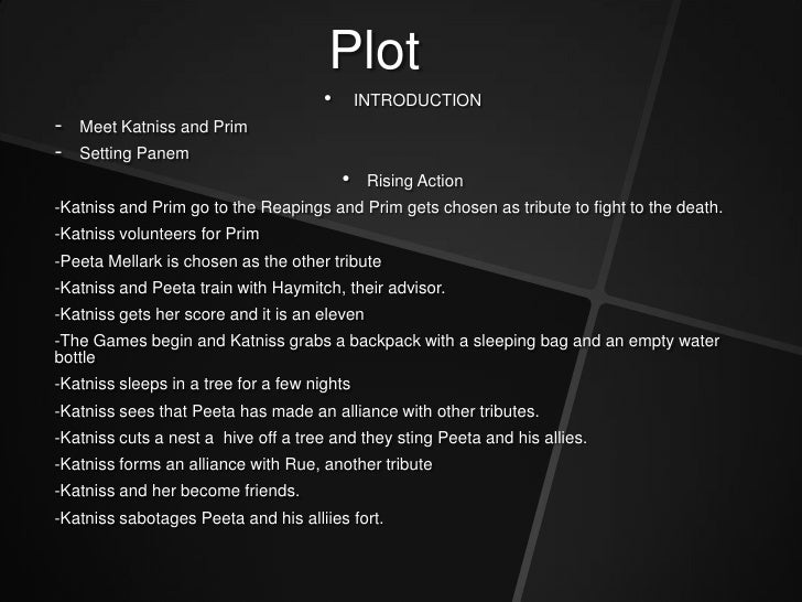 Hunger games book plot summary