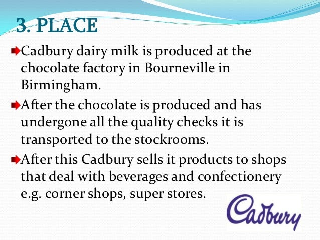 4 ps of cadbury Thus marketing mix is made up of 4 ps  read this article to get information on marketing mix: product, price, place, and promotion (4ps)  kwality walls tied.