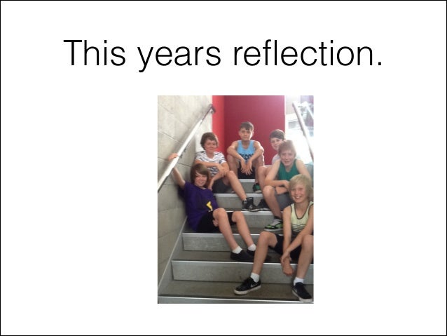 This years reflection.