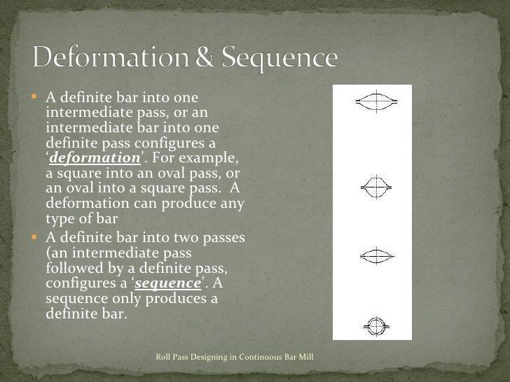 <ul><li>A definite bar into one intermediate pass, or an intermediate bar into one definite pass configures a ' deformatio...