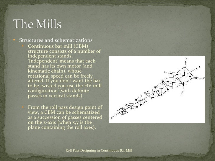 <ul><li>Structures and schematizations </li></ul><ul><ul><li>Continuous bar mill (CBM) structure consists of a number of i...