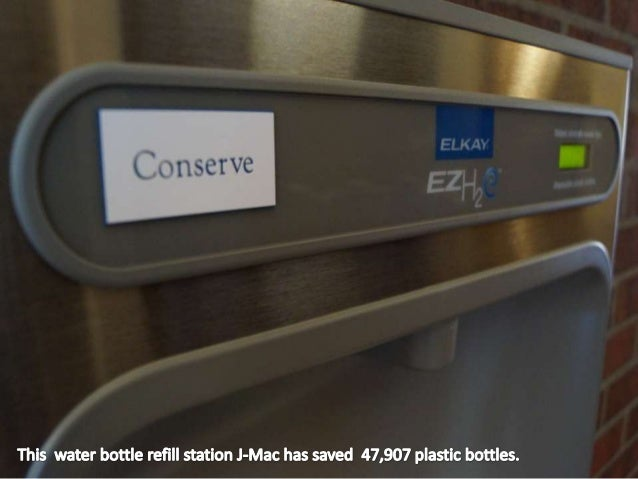 Decrease your carbonfootprint by not buyingplastic bottles.