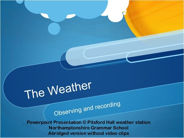 weather templates for powerpoint