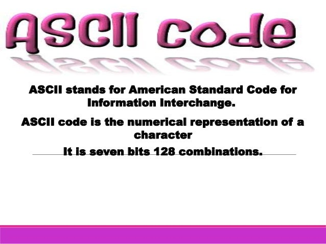 Ascii Code Amp Baudot Code