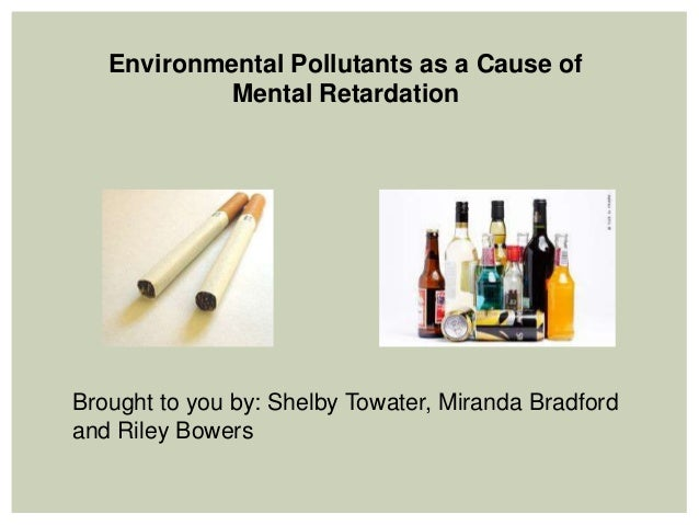 Environmental Pollutants as a Cause of           Mental RetardationBrought to you by: Shelby Towater, Miranda Bradfordand ...