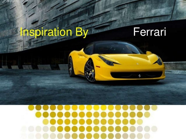Inspiration By Ferrari