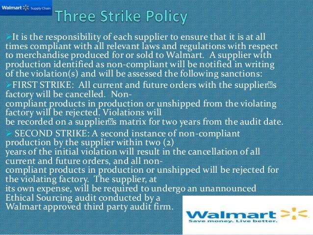 walmart supply chain management rh slideshare net Walmart Employee Strike Target Employee