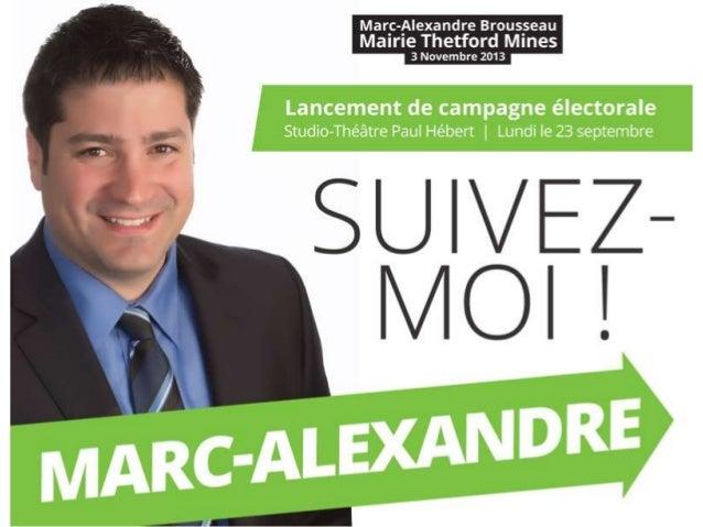 Présentation lancement campagne électorale / 23 septembre 2013