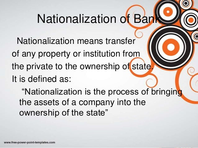 what is nationalized