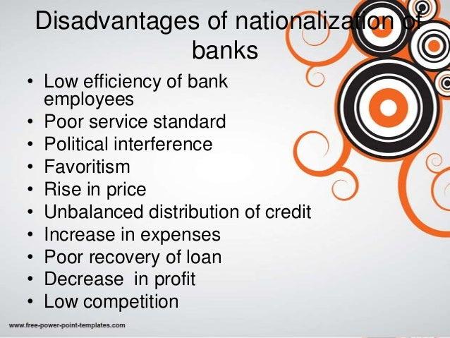 five advantages of nationalization