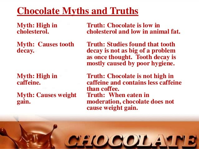 Chocolate - Myths and truths about coffee ...
