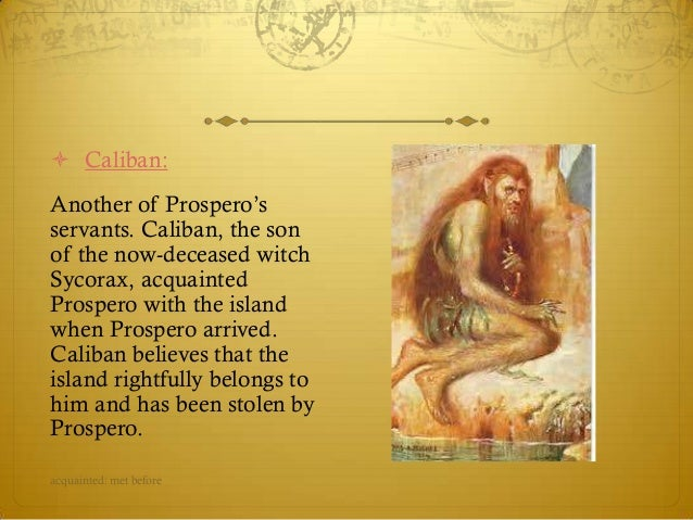caliban and prospero relationship help