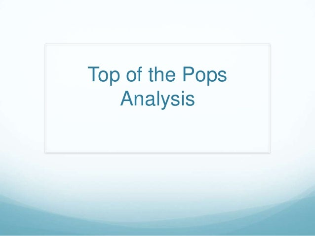 Top of the Pops Analysis