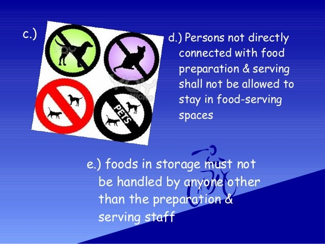 Code Of Sanitation Of The Philippines For Food Service Establishment