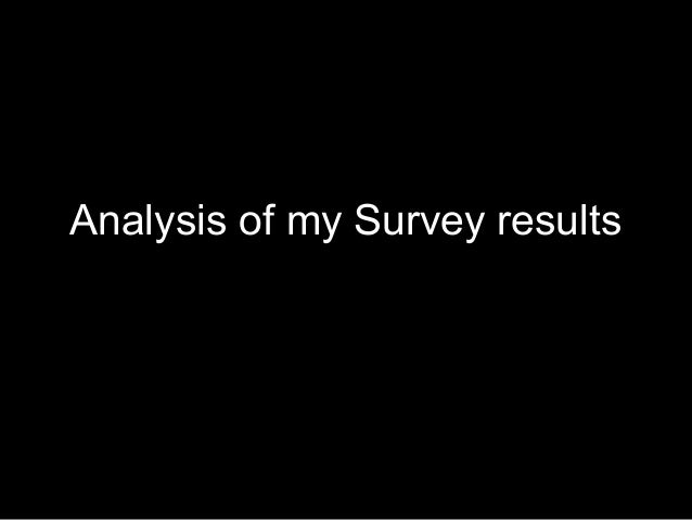 Analysis of my Survey results