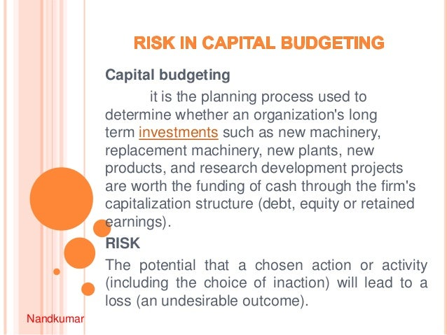 capital budgeting exercise Capital budgeting meaning of capital budgeting capital budgeting is the making of long term planning decision for investment fixed assets and their financing capital budgeting decision is concerned with current investment that will pay for itself and yield an acceptable rate of return over its life span.