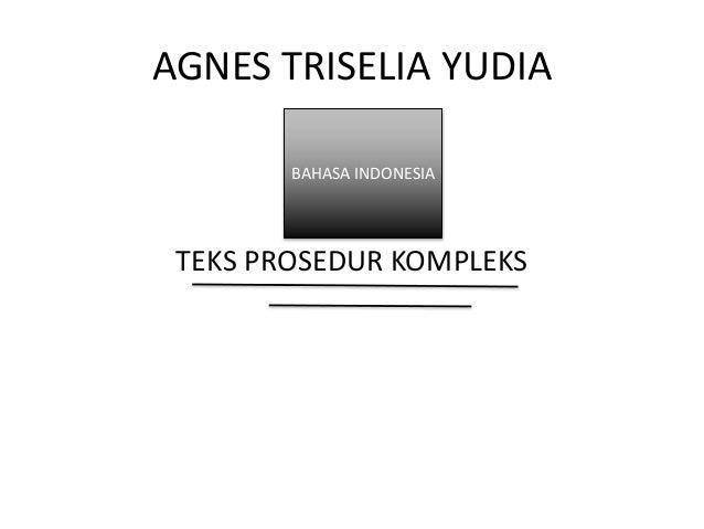 AGNES TRISELIA YUDIA TEKS PROSEDUR KOMPLEKS BAHASA INDONESIA