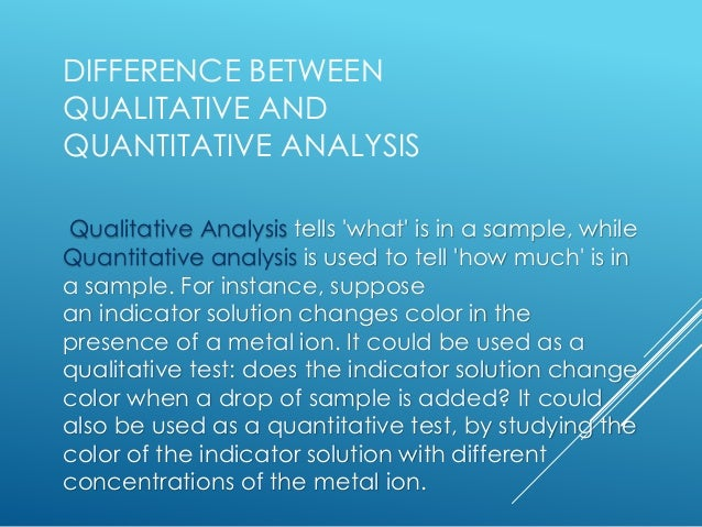 Qualitative And Quantitative Analysis Empirical And Molecular Formula