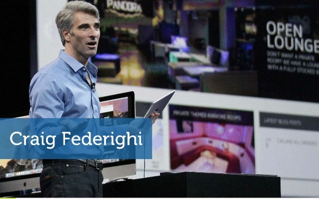 Five presentation lessons from Apple's new rising star (Craig Federighi) Slide 2
