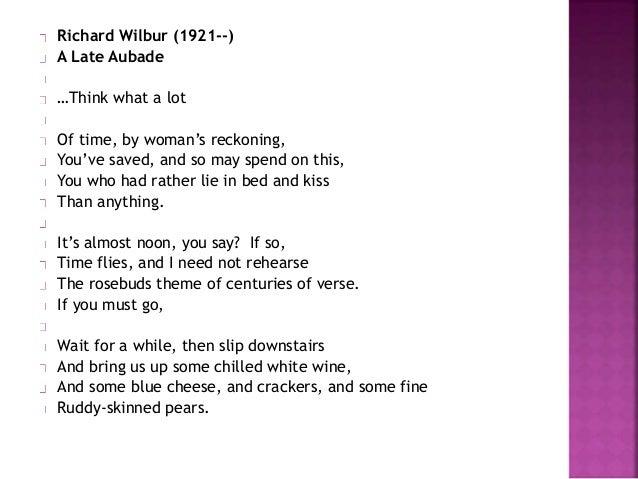 Love Poem by John Frederick Nims Essay