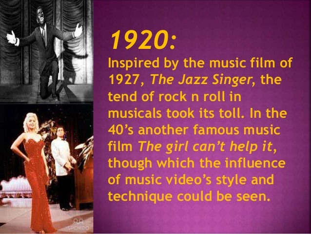 1920:  Inspired by the music film of  1927, The Jazz Singer, the  tend of rock n roll in  musicals took its toll. In the  ...