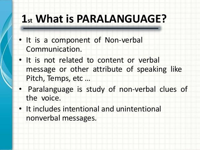 paralinguistics