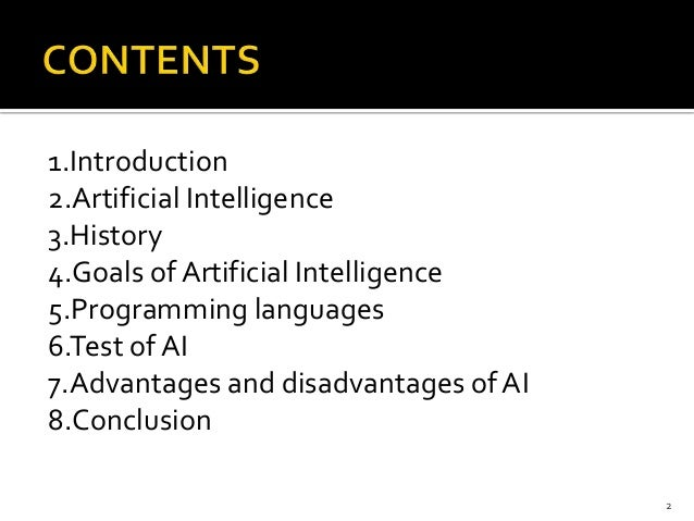 story of artificial intelligence essay