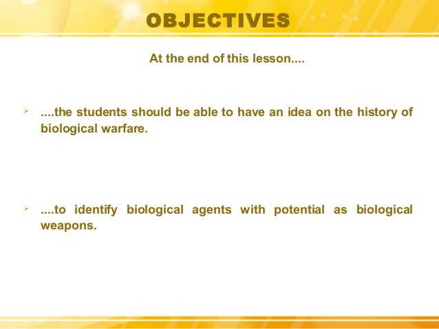 Bioterrorism: History, Advantages and Weaponry Slide 3