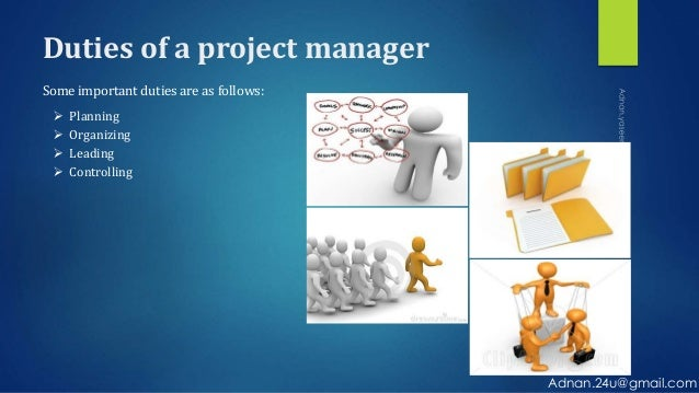 essential functions of a project manager 84 4 essential project management functions 41 coordinating function: project integration management coordinating function consist of only one knowledge area: the.