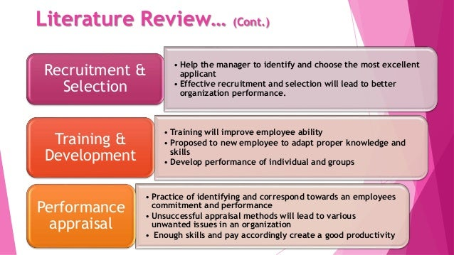 literature review of recruitment and selection in international human resource management This paper shows results of the impact of organizational culture on human resource influence on the recruitment and selection literature review.