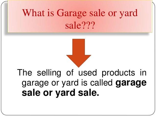 make products eligible for garage sale Slide 2