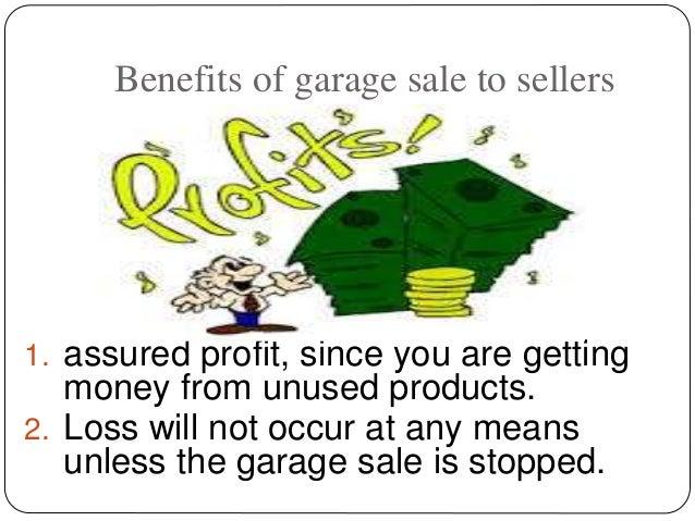 make products eligible for garage sale Slide 3