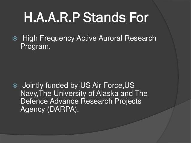 How does the HAARP program get funding?